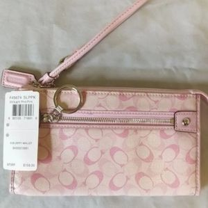 Coach NWT Pink Wristlet - MSRP $158**Half Price**